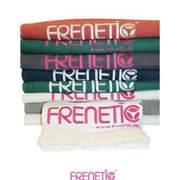 Frenetic Prosop, fitness, bumbac, brodat, TOWEL-00-21, Alb
