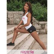 Maieu fitness, tricou, alb cu imprimeu pink, HILLY-00-21, Alb