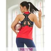 Tricou lejer, material fitness, culoare rosie, LAU-23, Rosu