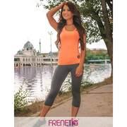 Tricou, maieu Frenetic fitness, Harper-24, Coral neon